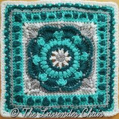 Sea Flower Mandala Crochet Square Pattern