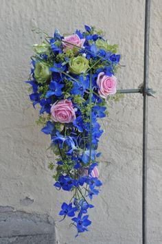 bukett blå hortensia rosa - Sök på Google