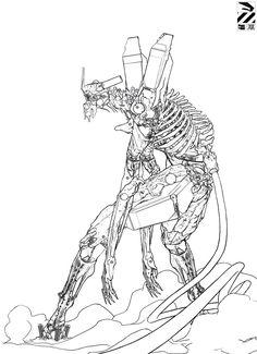 愼 ☼ ριητεrεsτ policies respected.( *`ω´) If you don't like what you see❤, please be kind and just move along. Neon Genesis Evangelion, Manga Anime, Anime Art, Ghibli, Arte Robot, Mekka, Robot Concept Art, Cyberpunk Art, Fan Art
