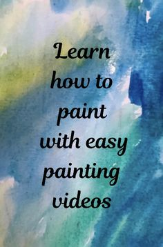learn to paint with easy painting videos Painting Videos, Easy Paintings, Painting Techniques, Art Videos For Kids, Simple Artwork, Mandalas Drawing, Music Backgrounds, Family Doctors, Healthy Living Magazine