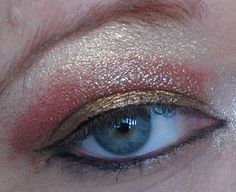 Wearing Golden Rod on bottom, Diva in Middle and Smooth on Top, Ice in the inner corner and Mistress for eyeliner on top and bottom, all  by Surreal Makeup :)