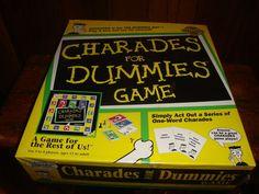 Vtg Charades For Dummies Game 1998 Pressman NEW Sealed #Pressman