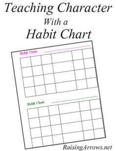 Teaching Character with a Habit Chart |