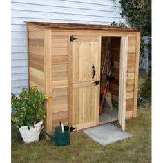 W x 3 ft. D Solid Wood Tool Shed Found it at Wayfair - Garden Chalet ft. D Wood Lean-To Tool ShedFound it at Wayfair - Garden Chalet ft. D Wood Lean-To Tool Shed Wood Storage Sheds, Outdoor Storage Sheds, Garden Tool Storage, Storage Shed Plans, Wood Shed, Outdoor Sheds, Garden Tools, Storage Ideas, Outside Storage Shed