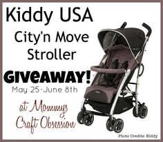 [OVER] #WIN a Kiddy City'n Move Stroller during MCO's Bday Bash! The Giveaway will close late on the evening of June 8th.