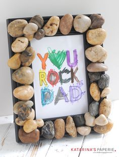Free printable You Rock Dad from Katarina's Paperie