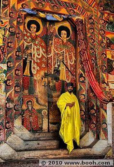 Ura Kidane Meret Monastery at Lake Tana, Bahir Dar in Ethiopia. Religion, African History, African Art, Addis Abeba, Les Seychelles, Horn Of Africa, Art Africain, Photos Voyages, Place Of Worship