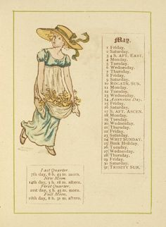May - Kate Greenaway's Almanack for 1885