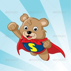Super Bear  #GraphicRiver         Image of a cute superhero bear. Very clean and simple and suitable for wide range of usage. PSD file is included in the ZIP file.     Created: 19June12 GraphicsFilesIncluded: PhotoshopPSD Layered: Yes MinimumAdobeCSVersion: CS3 Tags: bear #cape #cartoon #child #children #cloud #cute #fly #funny #hero #high #kid #kids #logo #mascot #milk #save #simple #sky #strong #super #superhero #up #wing