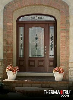 ThermaTru Doors New Products Cambridge Decorative Glass Black Nickel Caming Available in more