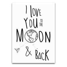 "Kaart ""To the moon"" | By Zenz"
