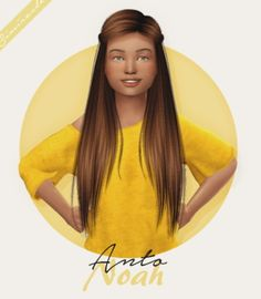 Anto Noah Hair Kids Version by Simiracle for The Sims 4