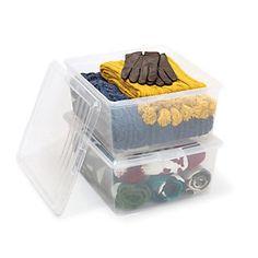 Office+Depot%26reg%3B+Brand+Plastic+Storage+Boxes%2C+21+Quart%2C+Clear%2C+Pack+Of+2