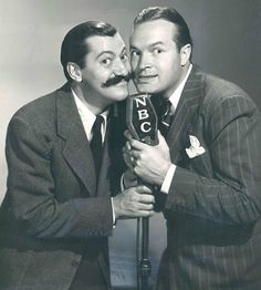 Best known as the zany sidekick in Bob Hope's radio shows and many of his films, Colonna was also a singer, songwriter, and trombonist. Here he is with Bob Hope in a promotional photograph for Hope's radio show. Radios, Celebrities Then And Now, Old Time Radio, Bob Hope, Today In History, Star Show, Thanks For The Memories, Classic Comics, Old Movies