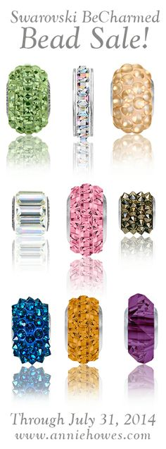 Swarovski BeCharmed beads ON SALE! www.anniehowes.com#Swarovski #becharmed #sale #beads #beadsale