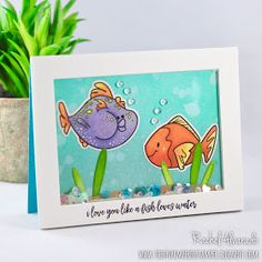 A fun underwater shaker card featuring the new fish2stamp stamp set from The Stamps of Life. All stamps & dies were designed by Stephanie Barnard.