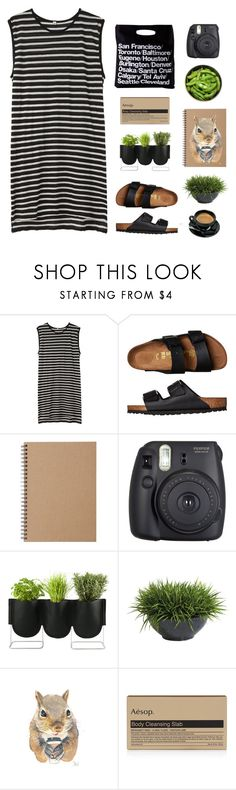 """Savannah"" by flaunting ❤ liked on Polyvore featuring R13, Birkenstock, Martha Stewart, Muji, American Apparel, Fuji, Authentics, Ethan Allen and Aesop"