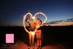 Sparkler Engagement Photo
