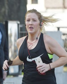 Ellie Goulding shows off her shapely legs on run around London
