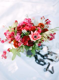 Pretty patriotic blooms: http://www.stylemepretty.com/2015/07/04/the-prettiest-red-white-blue-wedding-details/