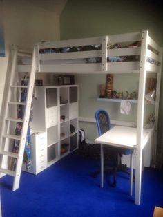 22 Fantastic Creative ideas For Boys Loft Beds, Loft Beds For Small Rooms, Loft Beds For Teens, Ikea Loft Bed Hack, Ikea Bunk Bed, Room Design Bedroom, Boys Bedroom Decor, Loft Bed Plans, Loft Storage