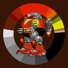 Death Egg Robot . Sonic 2 . SEGA . 1992 . #game #colorwheel #color #palette #colorscheme #pixelart #sonic #robotnik #SEGA #megadrive #genesis #platformer #retrogames #characterdesign #gameart #digitaldesign #graphicdesign #webdesign