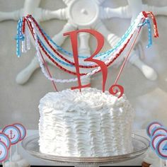 #MONOGRAM #CAKE TOPPER #Birthday Party Wedding Cake by OHONEFINEDAY, $27.90