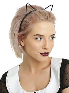 <p>A kitty headband to match any outfit! Black, red and white plastic cat ear headband pack from Blackheart. Purr-fect for when you're feeling playful!</p>  <ul> <li>Plastic</li> <li>Imported</li> </ul>
