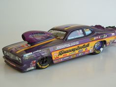 Custom built models that replicate vehicles or objects that are seen in everyday life like junked cars and old buildings. There is a heavy interest in drag race vehicles and hot rods as well. Rc Drag Racing, Nascar Engine, Hobby Cars, Dodge Charger Daytona, Plastic Model Cars, Model Cars Kits, Drag Cars, Small Cars, Car Humor