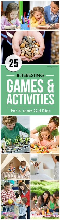 25 Interesting Games And Activities For 4 Year Old Kids