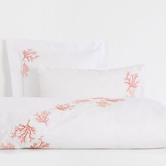 ???ItxProductPage.image.alt.nonumber??? Coral Embroidered Percale Cotton Bed Linen
