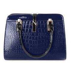 Embossed Crocodile PU Leather Multifunction Handbag