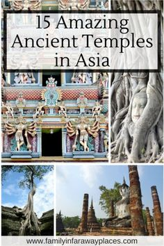 The ancient temples across Asia are amazing! Check out these 15 amazing ancient temples in Cambodia, India, Indonesia, Myanmar, Sri Lanka and Thailand.