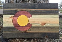 Colorado Wood Flag 32 x 21 by ClamHammerDesigns on Etsy