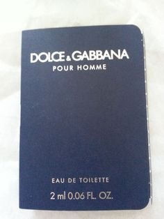 Dolce & Gabbana for Men sample .06 fl. oz.