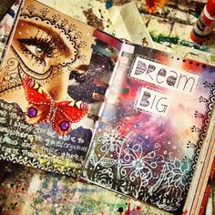 Mixed media art by Jennifer Lee! Here blog is awesome go check it out! Love her artwork.