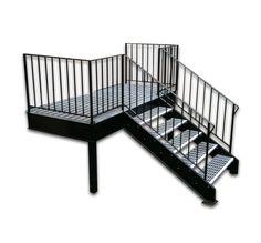Best Welded Aluminum Prefab Stairways Galvanized Stairs 400 x 300