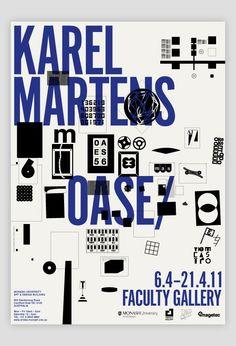 POSTER / KAREL MARTENS – OASE – Lecture, Melbourne (via KAREL MARTENS – OASE – Lecture, Melbourne | Swiss Legacy)