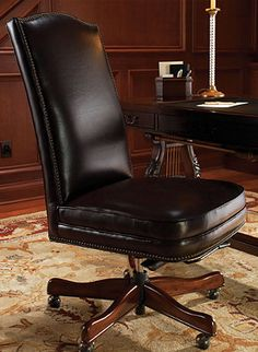 This Bridgefield Leather Executive Chair will keep you perfectly comfortable for hours.