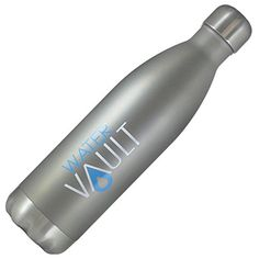 WaterVault Stainless Steel Water Bottle Vacuum Insulated Double Wall Keep Hot to 12 Cold to 24 Hours  Soda Classic Cola Shaped Thermos Bottle Matte Gray 17oz * Visit the image link more details.