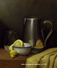 Justin Wood, Still Life with Lemon & Pitcher