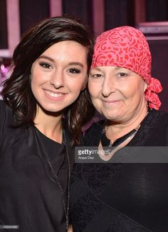 Christina Grimmie and her mother attend the Hard Rock Cafe Hollywood's PINKtober campaign kick off with NBC's 'The Voice' singing sensation Christina Grimmie at Hard Rock Cafe - Hollywood on October 8, 2014 in Hollywood, California.