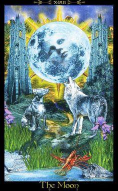 Resultado de imagem para illuminati tarot the moon