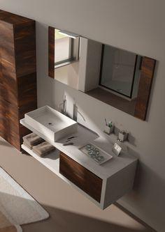 freschezza e solidità, ecomalta e yosemite  #bagno #design #arredobagno