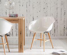 #Esszimmerstuhl Forum Wood White Holzbeine Buche Weiss  Für Dich auf: https://www.delife.eu/armlehnstuhl-forum-wood-white-holzbeine-buche-esszimmerstuhl-weiss/a-3890/?campaign=smm%2Fpinterest