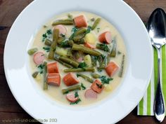 Rheinische bean soup - Soup, vegetables, meats, Rhineland, must click 'translate' on recipe page