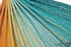 Lenesha Sunrise in Paradise (s/n 03-17-10) tsumugi silk weft Wrap (tsumugi silk)