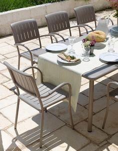 Sedia in resina ed alluminio per esterno. Modello Musa - bestprato.com