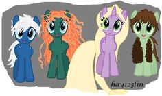 The Big Four / Rise of the Brave Tangled Dragons My Little Pony by hay123lin.deviantart.com on @deviantART