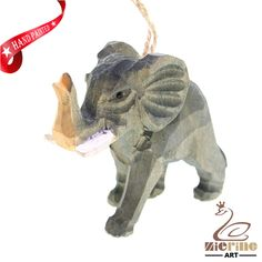 New listing! Hand-carved wooden Elephan painted decorative wall carvings ZR10014 #ZL #Ornament